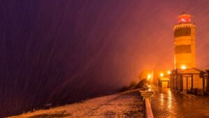 Анапский маяк ночью